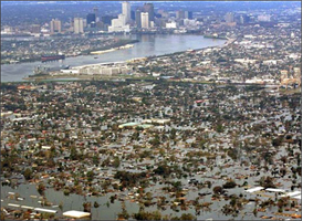 New Orleans flooded during Katrina